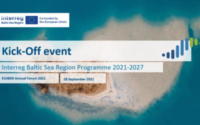 Interreg Baltic Sea Region 2021-2027 kicks off!